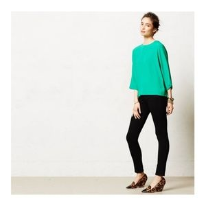 Anthropologie Sam & Lavi 3/4 sleeve Green Blouse